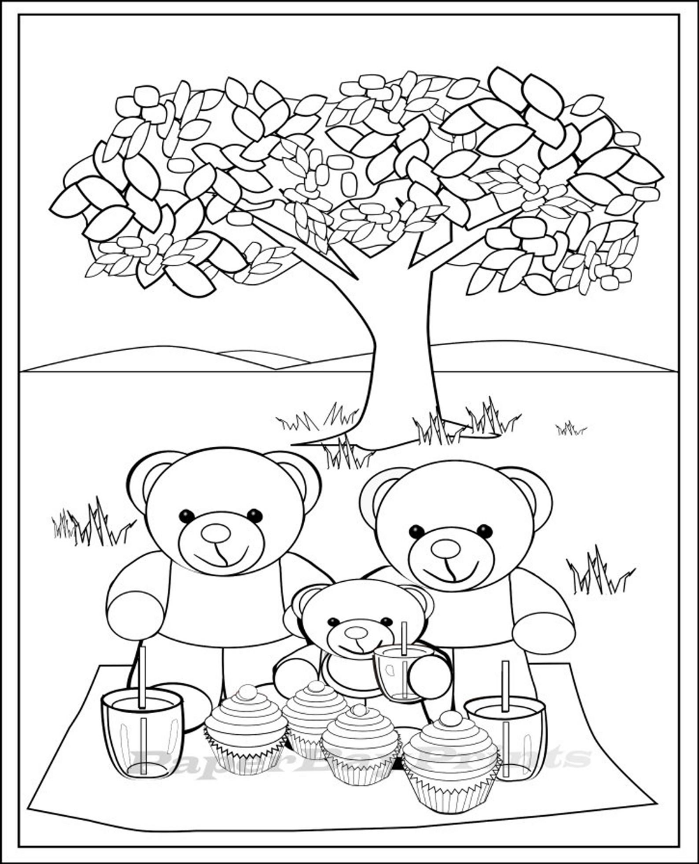Teddy Bear Picnic Coloring Page Coloring Pages For Kids Etsy In 2021 Bear Coloring Pages Teddy Bear Coloring Pages Teddy Bear Pictures