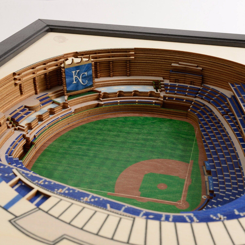 Kansas City Royals Stadiumviews 3d Wall Art Royals City Kansas Art Kansas City Royals 3d Wall Art Kansas City