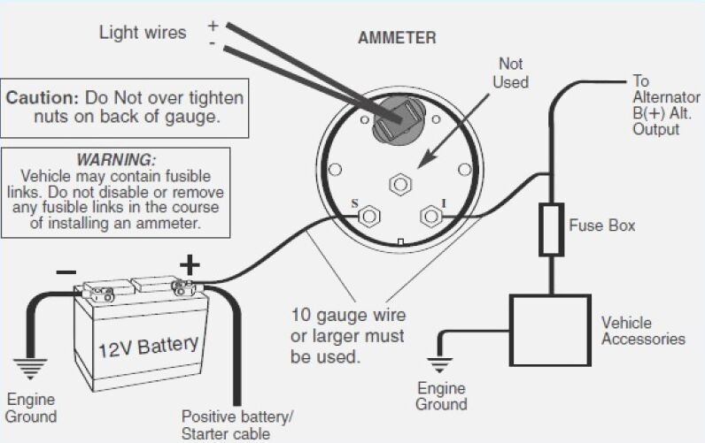 Tremendous Auto Ammeter Wiring Diagram Wiring Diagrams Lol Wiring Digital Resources Operpmognl