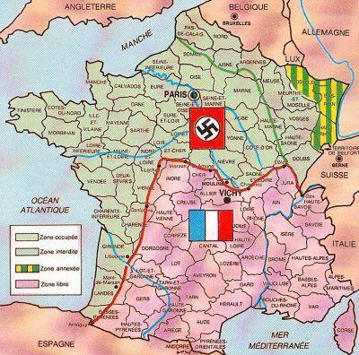 Zone Libre Zone Occupee Guerre Mondiale Histoire Guerre