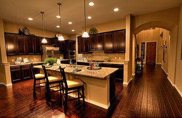 Pulte Homes Interior Love The Open Concept And The Warm Rich Wood Love