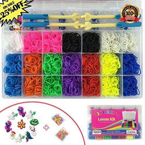 Kiserena Rubber Band Bracelet Kit with 4000 Rainbow Loom Bands in 10 Colors ... http://www.amazon.com/Kiserena-Bracelet-Rainbow-Storage-Organizer/dp/B00JEPCRYE/ref=sr_1_12?ie=UTF8&qid=1463562642&sr=8-12&keywords=loom+bands+kit