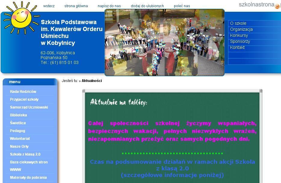 Tytuł szkoły eksperckiej uzykuje Szkoła Podstawowa w Kobylnicy. Gratulujemy.