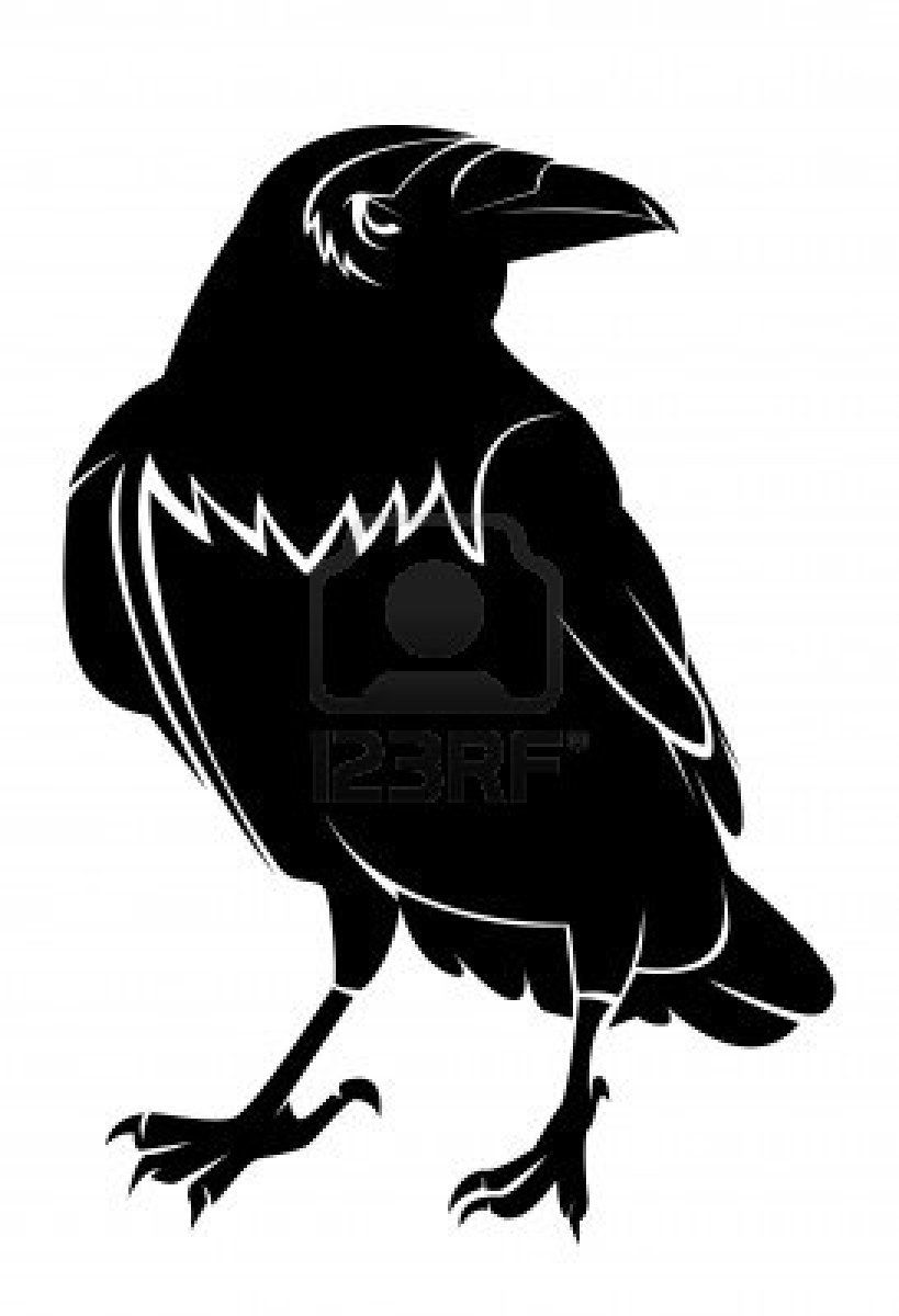 Crow Silhouette Drawing Crow Silhouette Crow