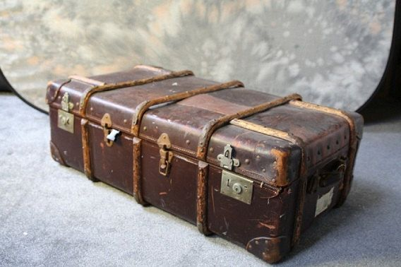 Vintage Wooden Steamer Trunk by OldenTimeLoot on Etsy, £50.00