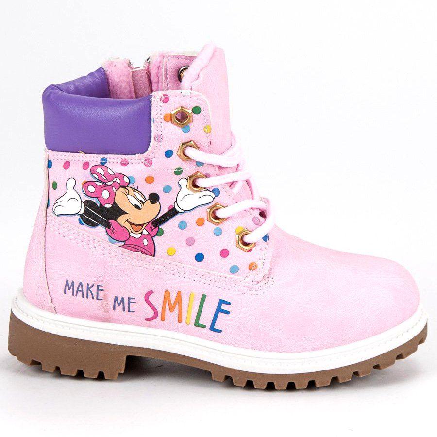 Kozaki Dla Dzieci Butymodne Rozowe Traperki Myszka Miki Boots Timberland Boots Timberland