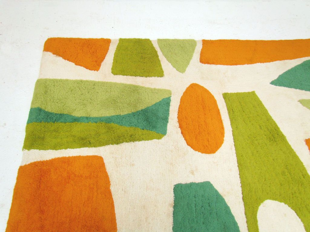 Mid Century Modern Rugs Abstract Area Rug Ca 1960s Image