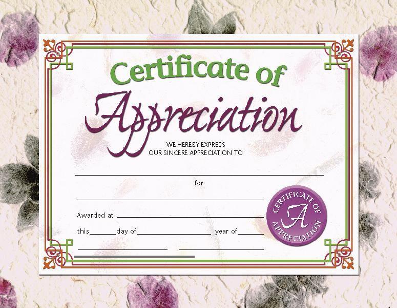 Of The Certificates Presentation on parent appreciation