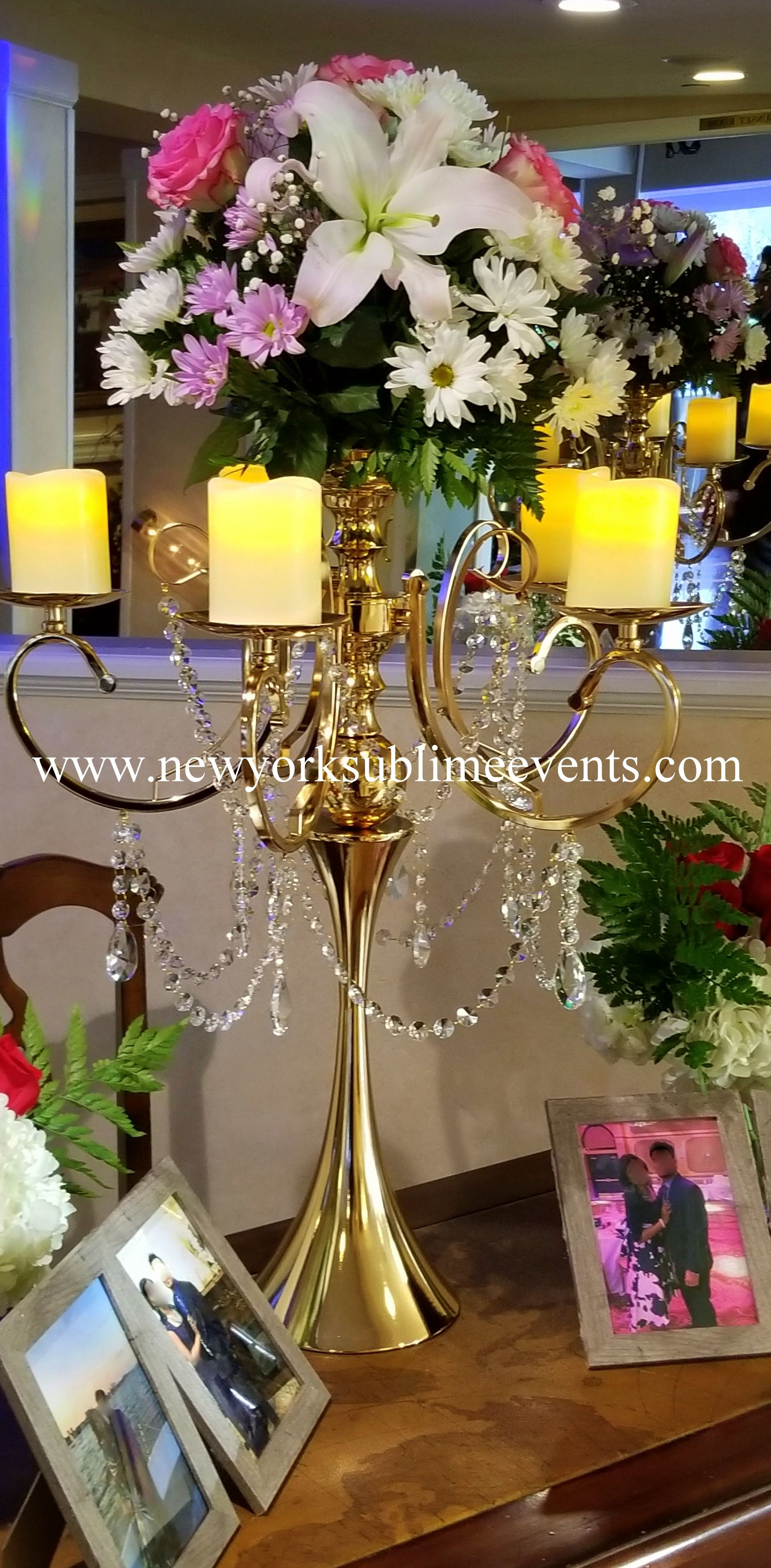 Beautiful majestic wedding set up featuring our gold
