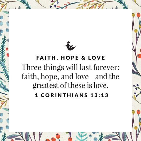 The words faith, hope, and love are central in the life of a believer. My Faith, Hope and Love collection is made to be a reminder of your faith in God, hope in salvation, and love for Jesus and others.
