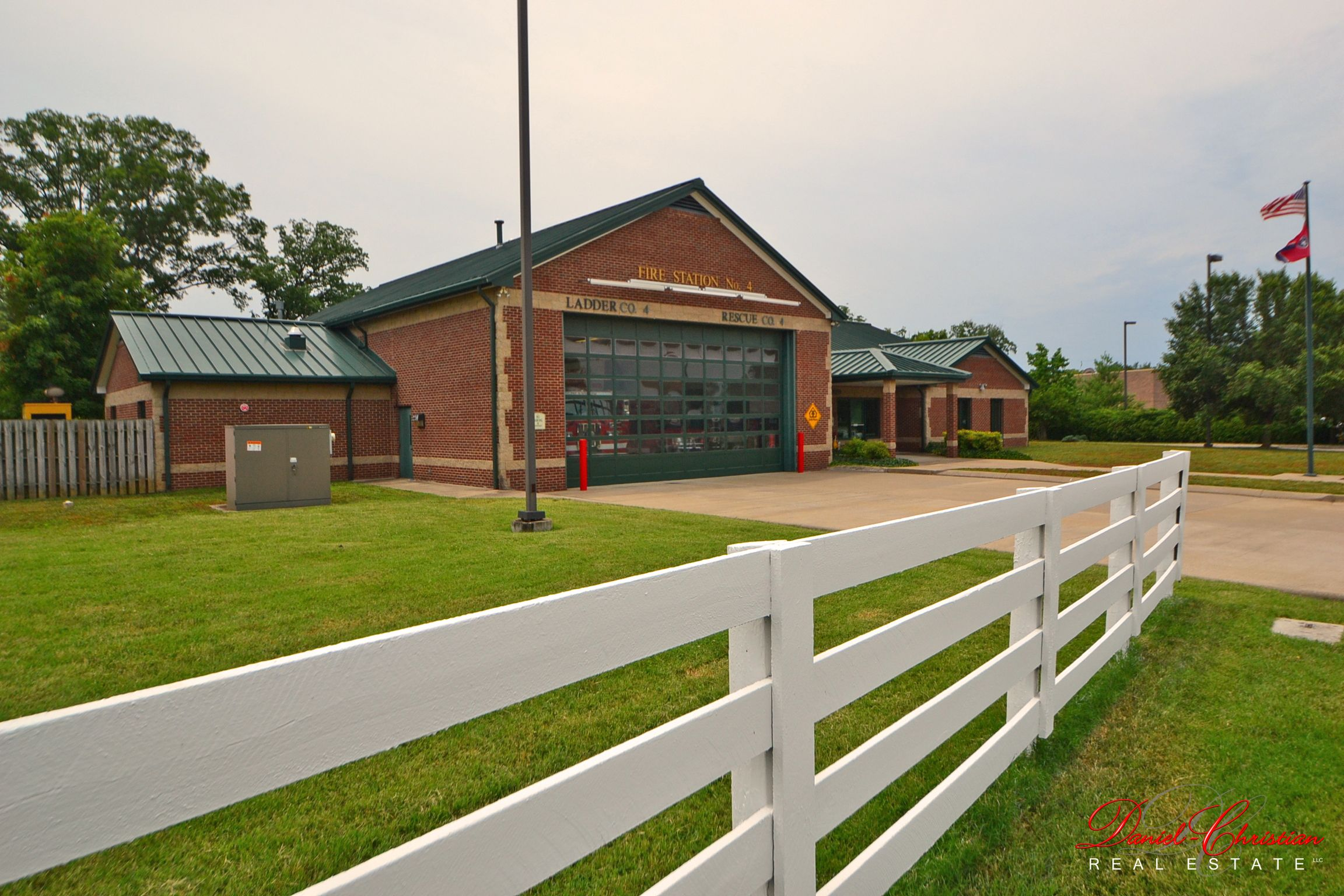 Fieldstone Farms has its own fire station located directly