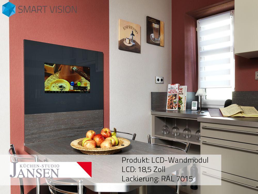 gestalten sie ihre k che berraschend neu mit den smart vision lcd wand panels individuell f r. Black Bedroom Furniture Sets. Home Design Ideas