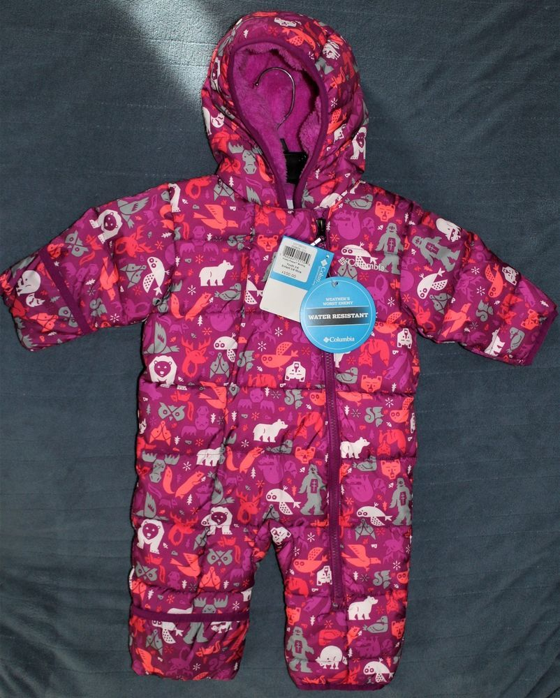 c1b4c439a9ba COLUMBIA Pink Lined Snowsuit Infant Baby Girls Size 3-6 Months NEW ...