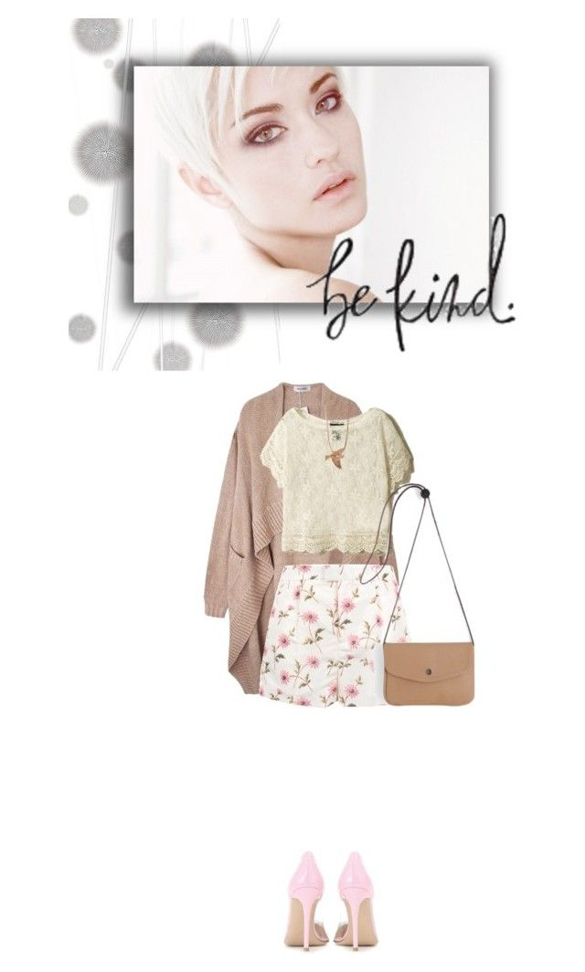 """""""Be Kind."""" by colierollers ❤ liked on Polyvore featuring Komar, RED Valentino, Gianvito Rossi and PP From Longwy"""
