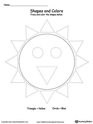 Trace Shapes To Make A Sun With Images Tracing Shapes Shapes