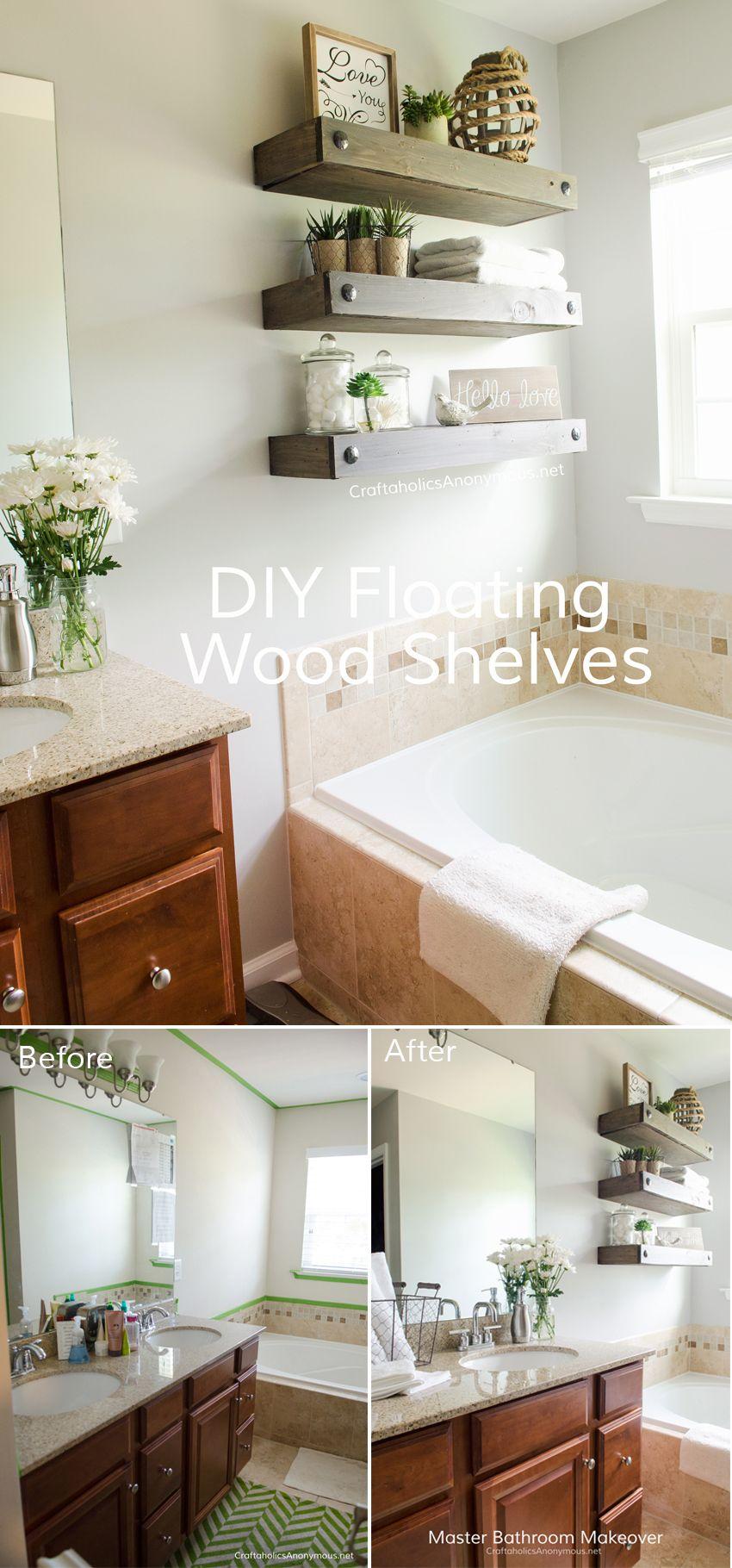DIY Floating Shelves Floating shelves, Floating shelves