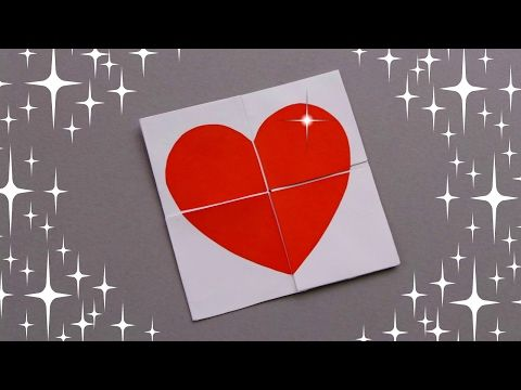 Diy Quick And Easy Valentine Card X2f Never Ending Card Tutorial X2f Valentine 39 S Day Gift Ideas Never Ending Card Greeting Cards Diy Origami Cards