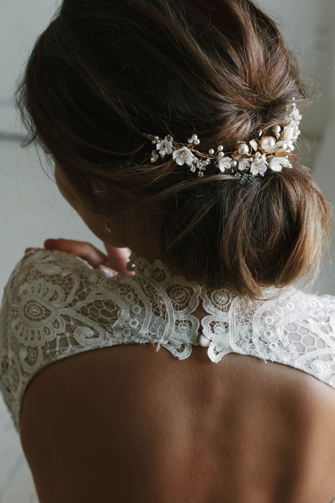 SOMERSET | floral bridal headpiece | Bridal Updo ...