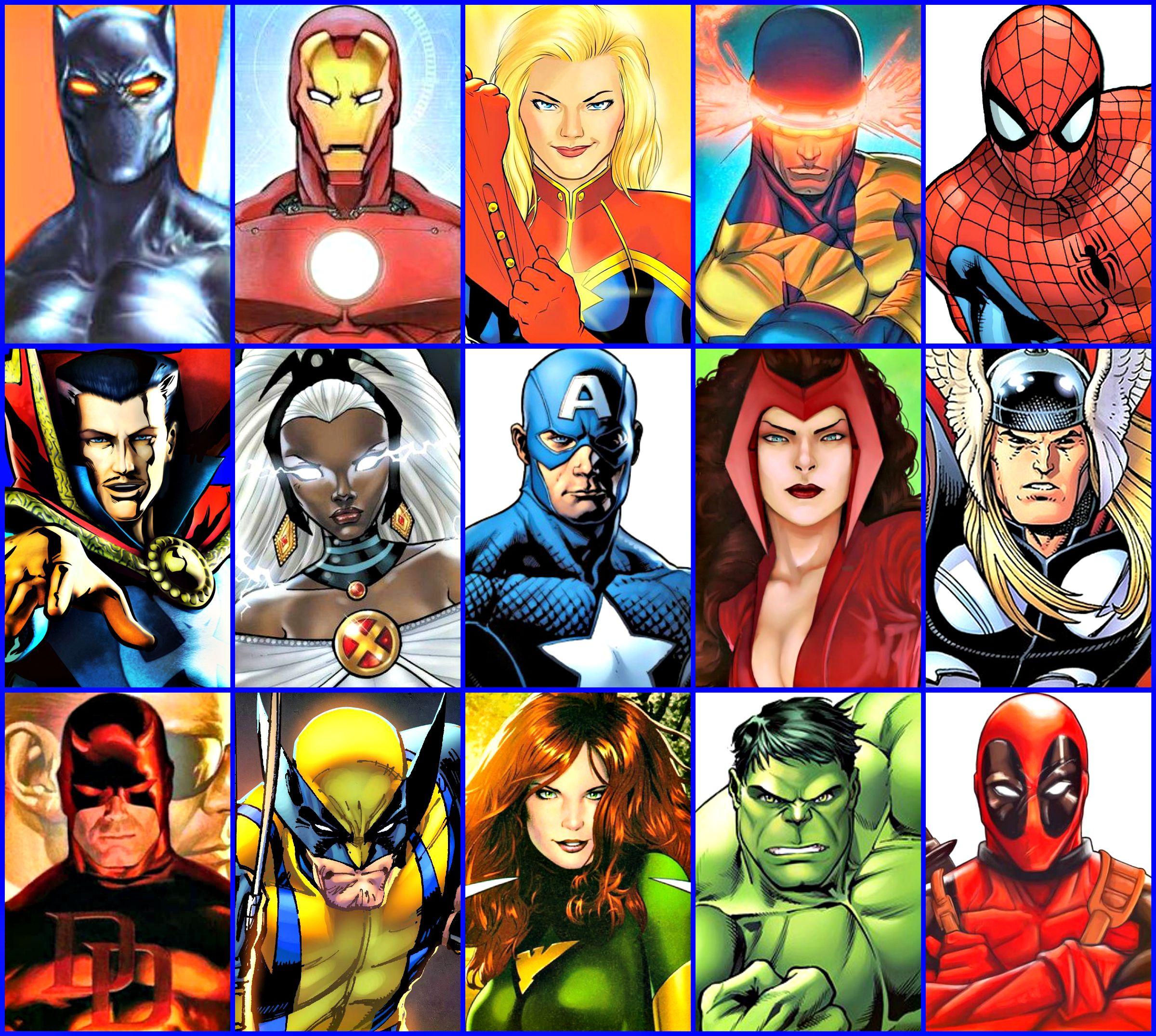 Marvel S 15 Most Popular Marvel Comics Superheroes Marvel Paintings Marvel Comic Universe