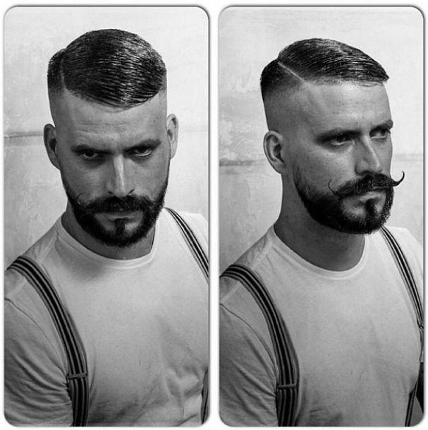 Frisur männer seitenscheitel