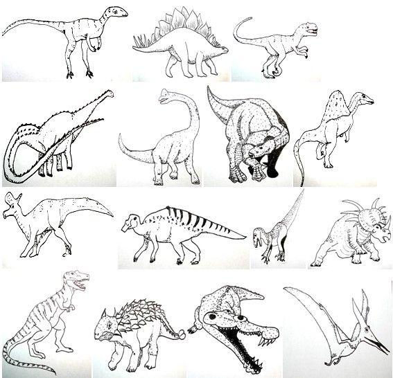 Disegni Da Colorare Dinosauri E Altri Rettili Preistorici Una Breve