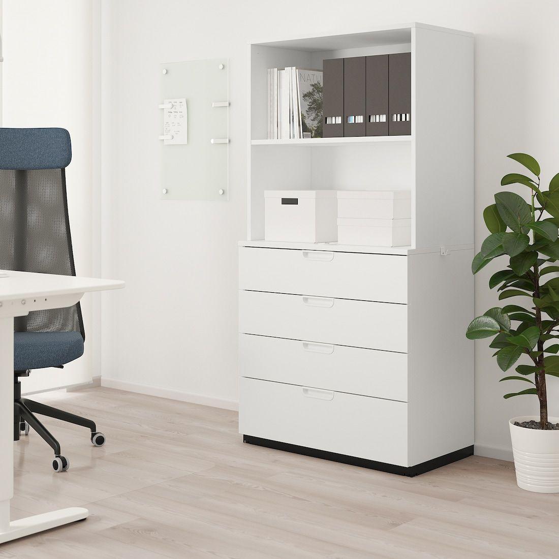 Galant White Storage Combination With Drawers 80x160 Cm Ikea Ikea Galant Ikea Storage