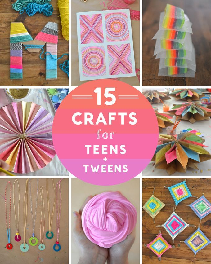 15 Crafts For Teens A Tweens Including Yarn Garlands Painting And Drawing