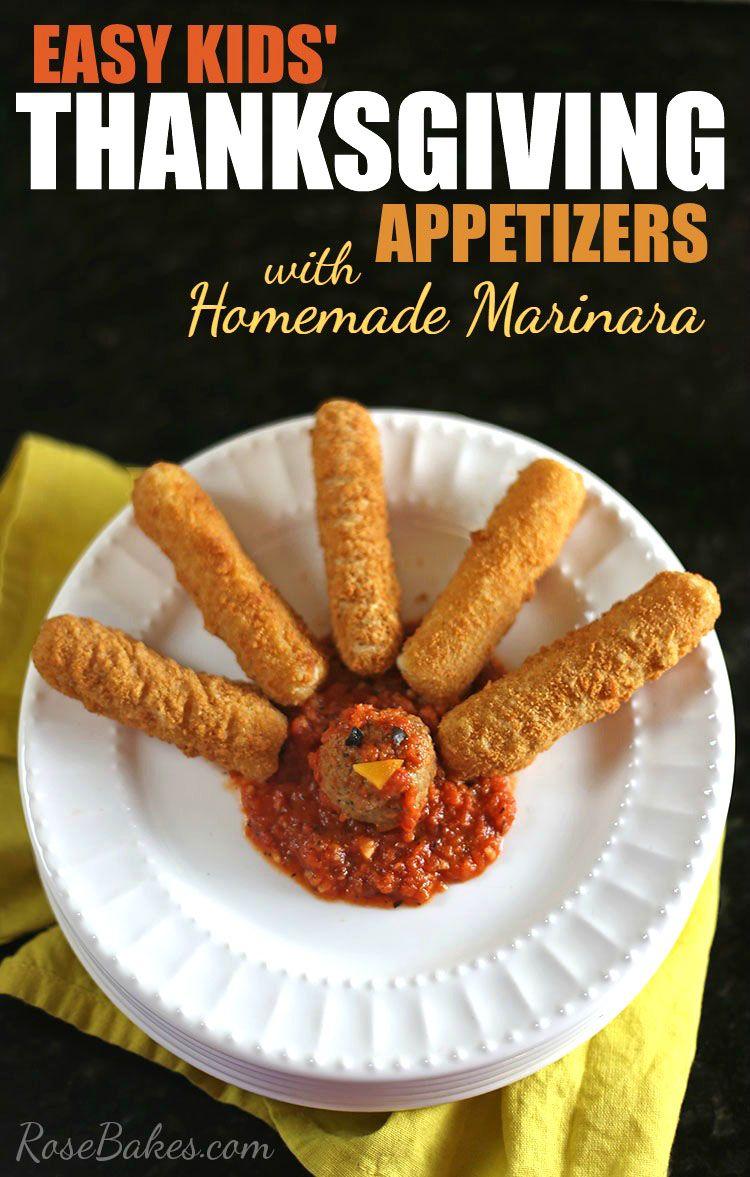 Here's a fun, easy Thanksgiving Appetizer for the kids! http://rosebakes.com/easy-kids-thanksgiving-appetizers-homemade-marinara-sauce/ #20MinutestoTasty #CollectiveBias #ad @FarmRichSnacks