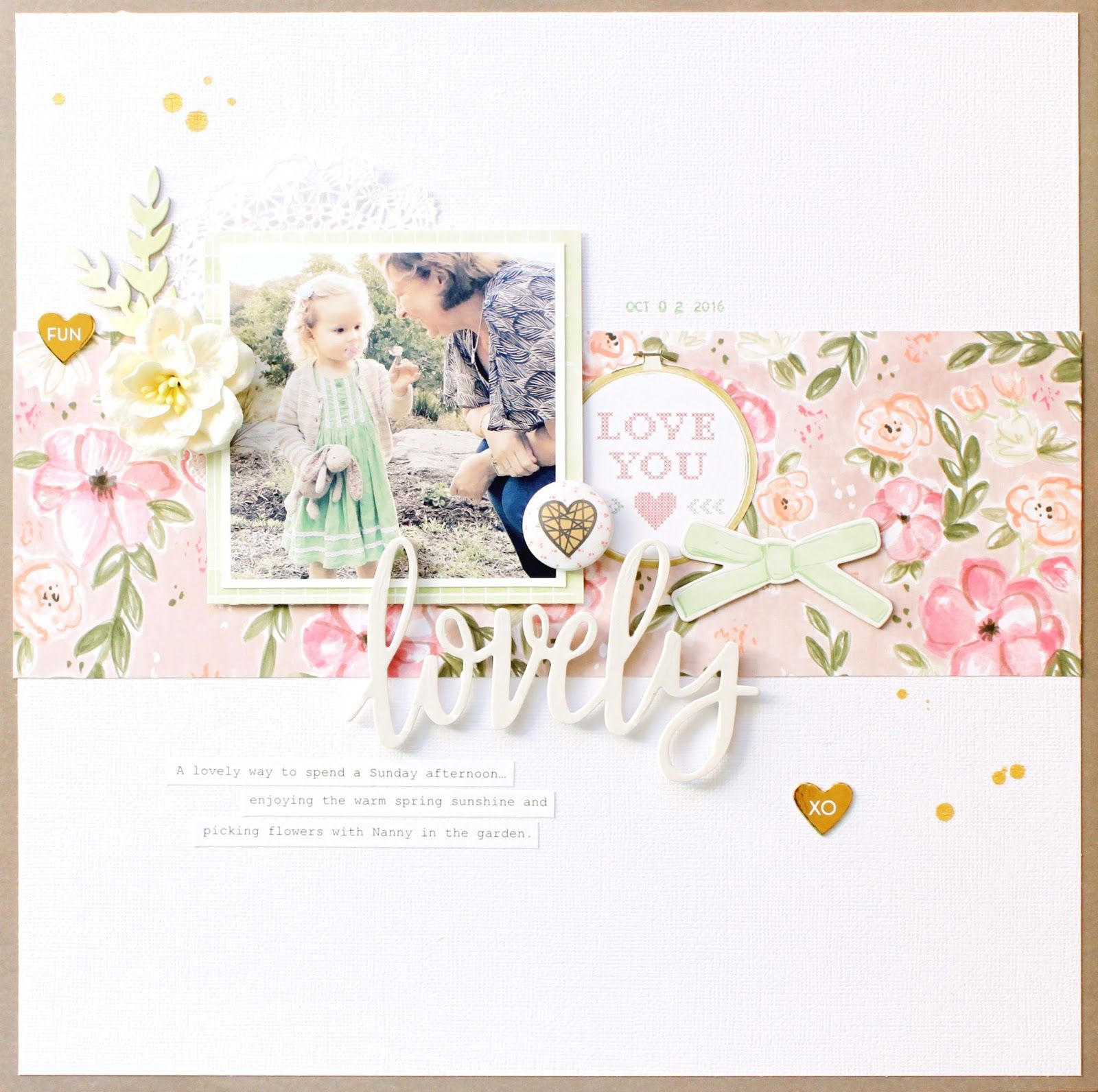 Lovely | Scrap the Girls Design Team project | Pink Paislee Paige ...