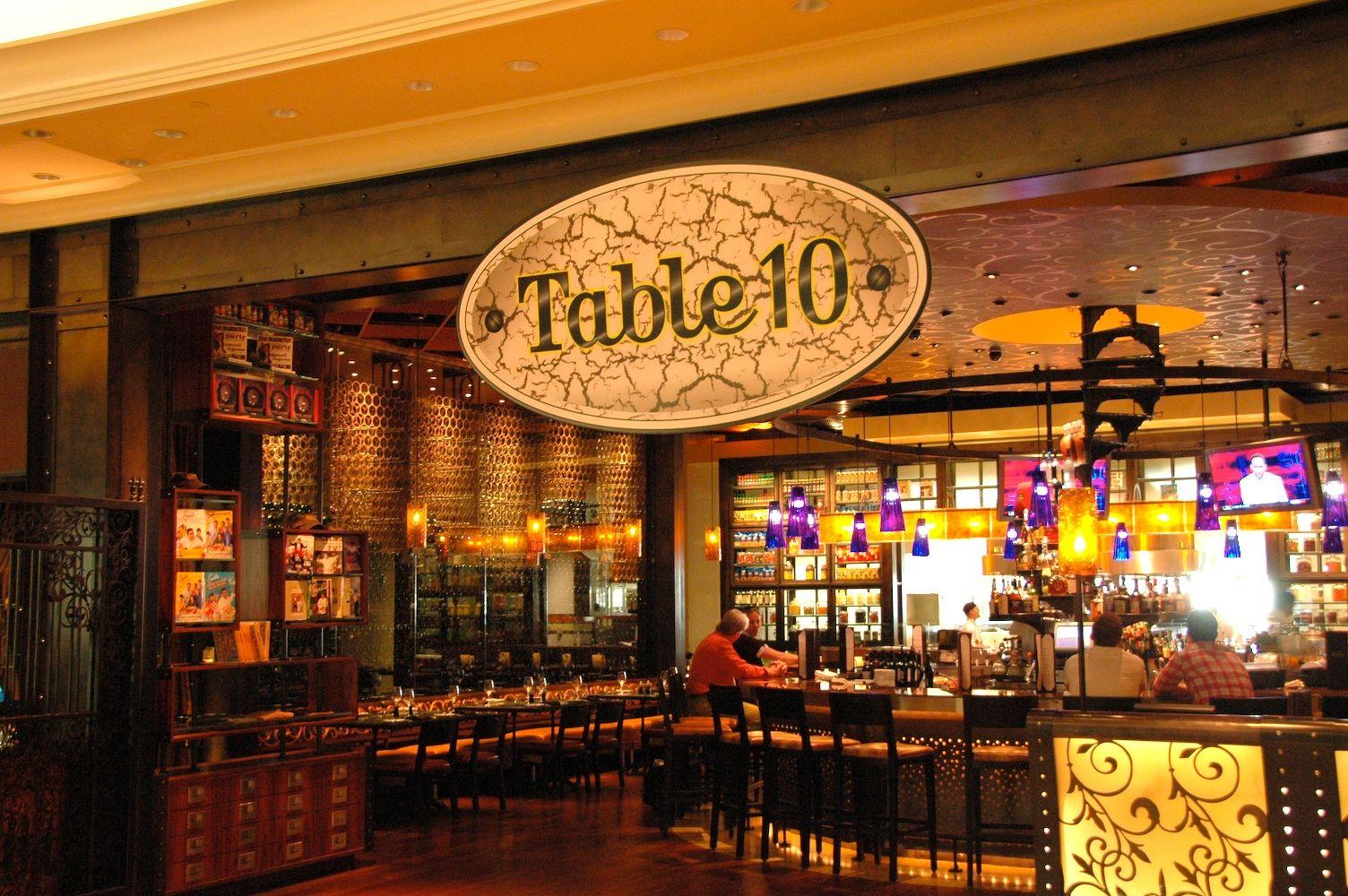 Table 10. Emeril Lagasse / The Palazzo Las Vegas 2010
