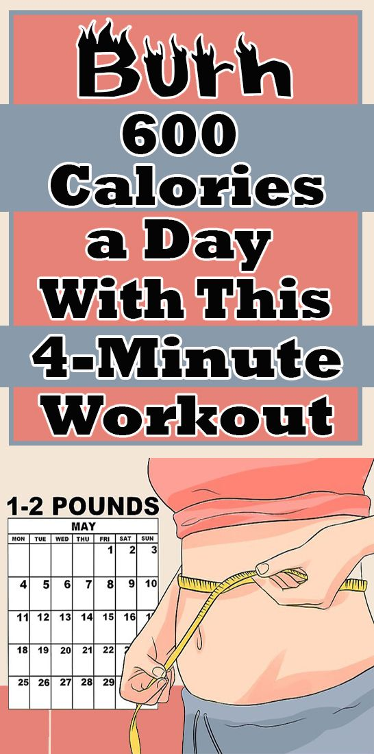 Burn 600 Calories A Day With This 4 Minute Workout 4 Minute Workout Health And Fitness Tips Health