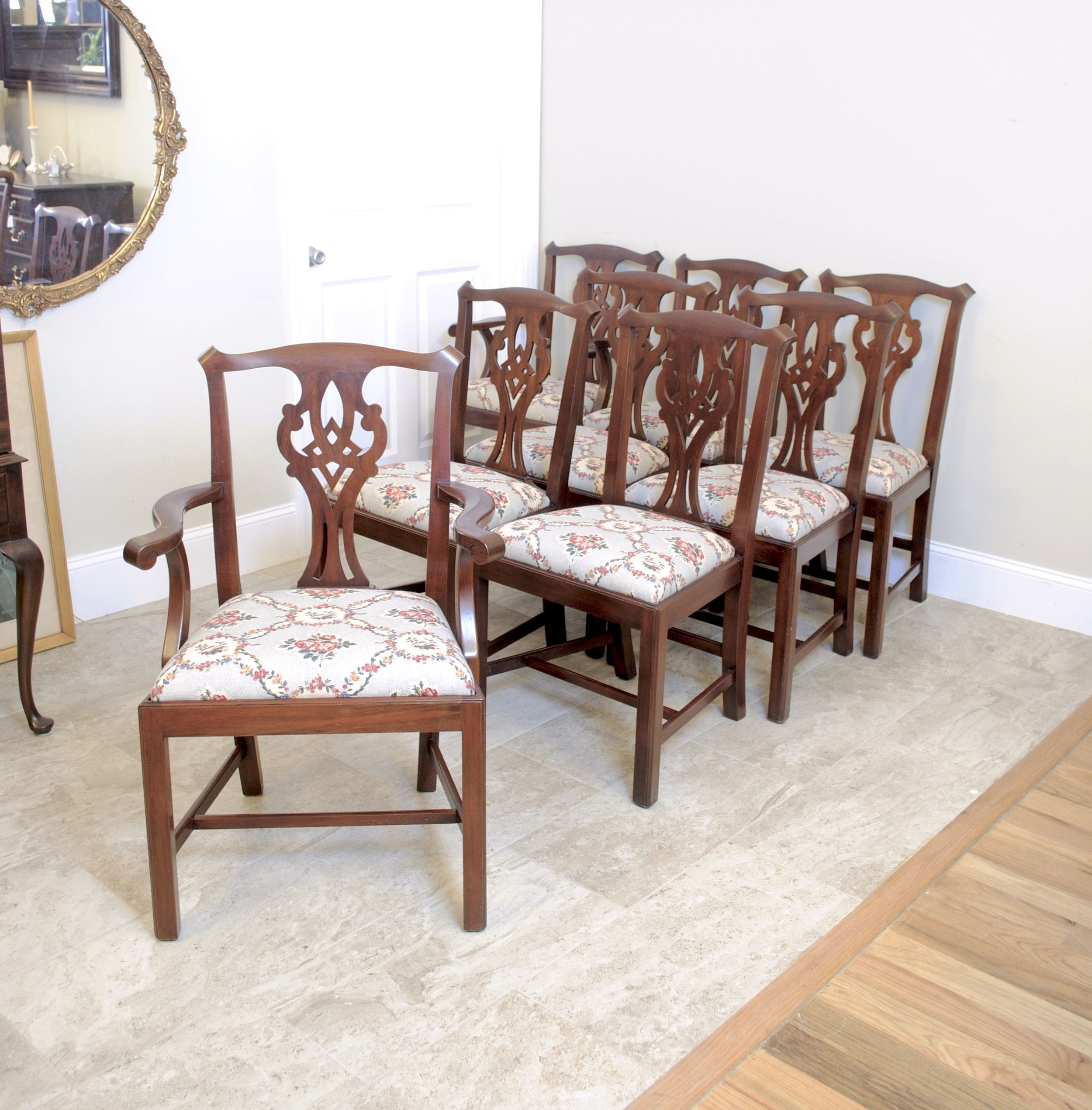 Henkel Harris Dining Room Furniture: Henkel Harris Mahogany Set Of 8 Chairs