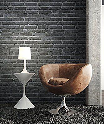 Steintapete Vlies Stein Schwarz Dunkel Natur schöne edle Tapete - schöne tapeten fürs wohnzimmer