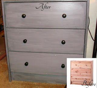 Distressed Bedside Dresser - tips