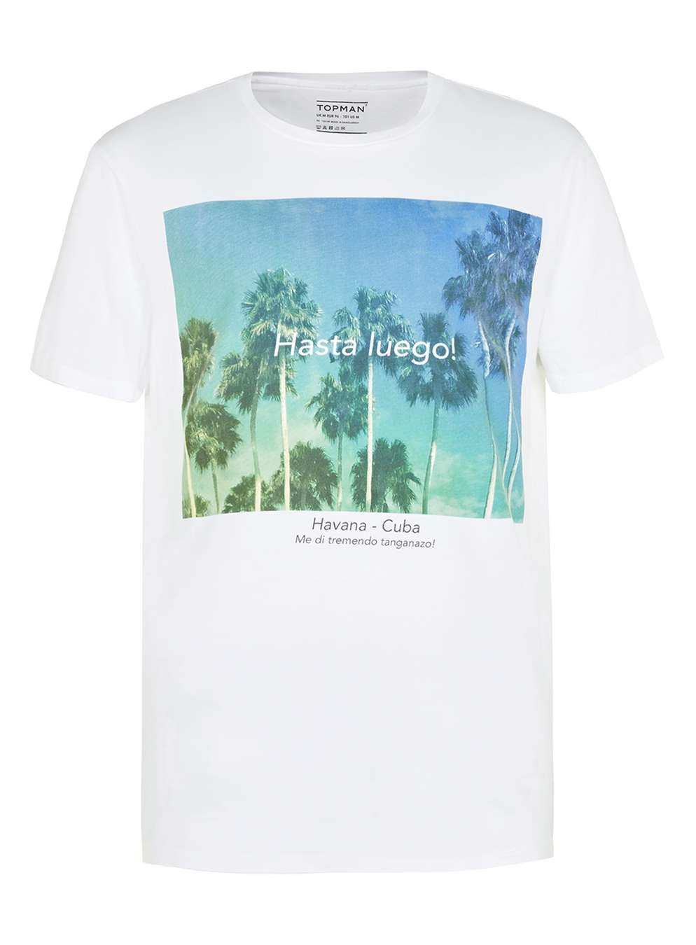 White Hasta Luego Print T-Shirt - New This Week - New In - TOPMAN
