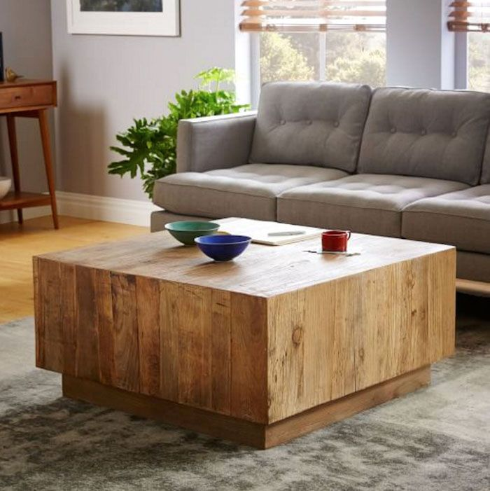 diy living room furniture plans tv unit design for west elm inspired coffee table from pallets plank westelmplankcoffeetable diyprojects diyideas diyinspiration diycrafts diytutorial