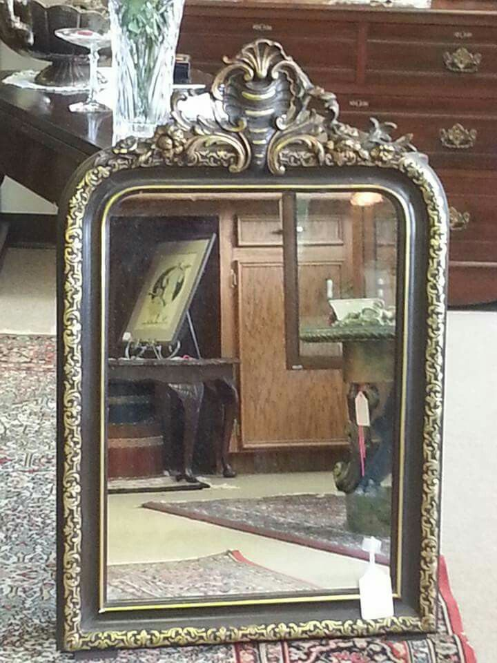 Exquisite Italian Mirror with ebony and gold trim