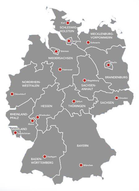 Deutschlandkarte - Bundesländer | Deutschland | Pinterest ...