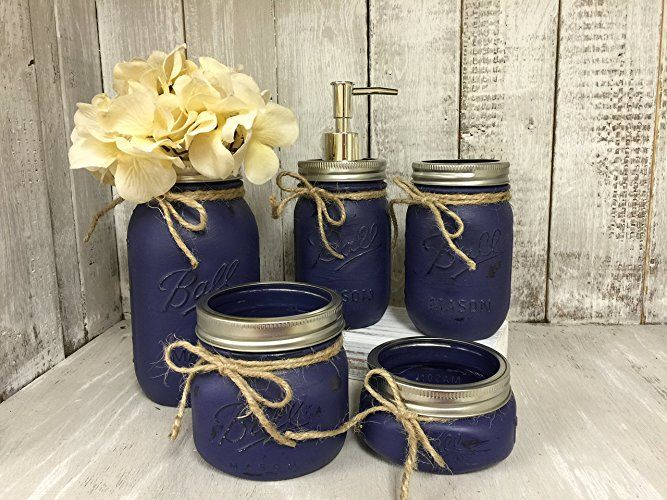 Mason Jar Bath Set