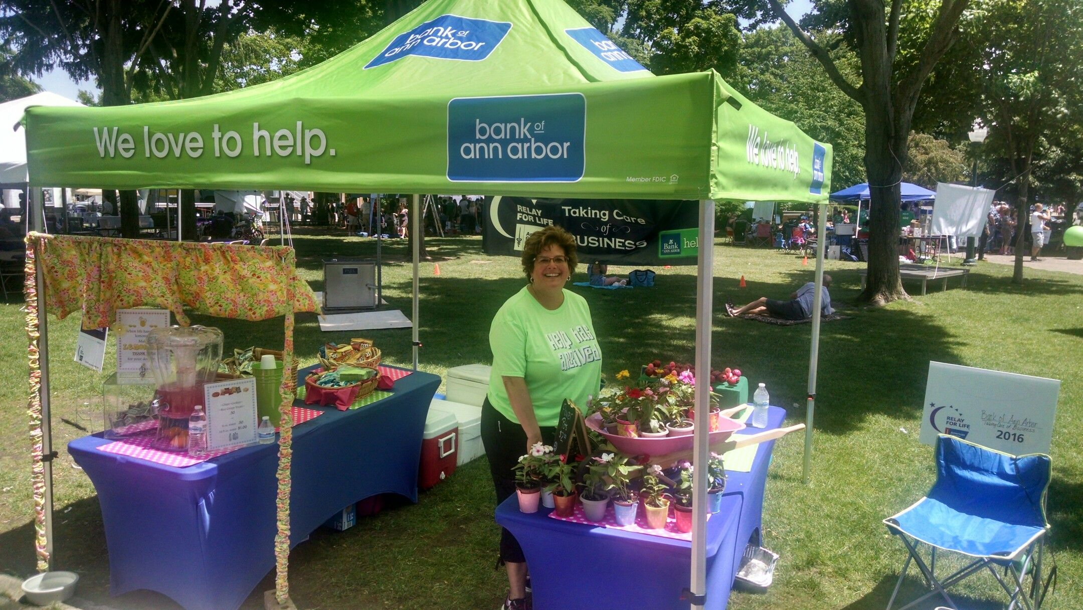 Bank of ann arbor at relay for life plymouth event
