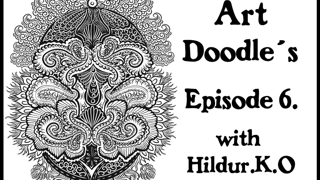 Youtube coloring book - Watch Me Draw For My Coloring Book With Hildur K O Episode 6 Illustration