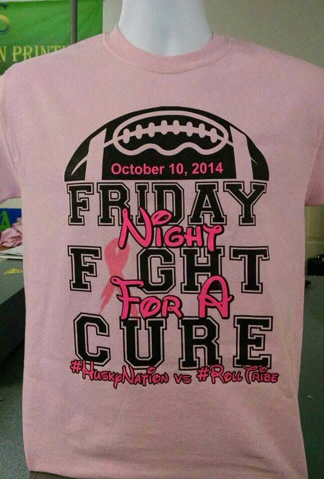 BREAST CANCER FOOTBALL RIBBON HEART T-SHIRT Tees | Cricut ...