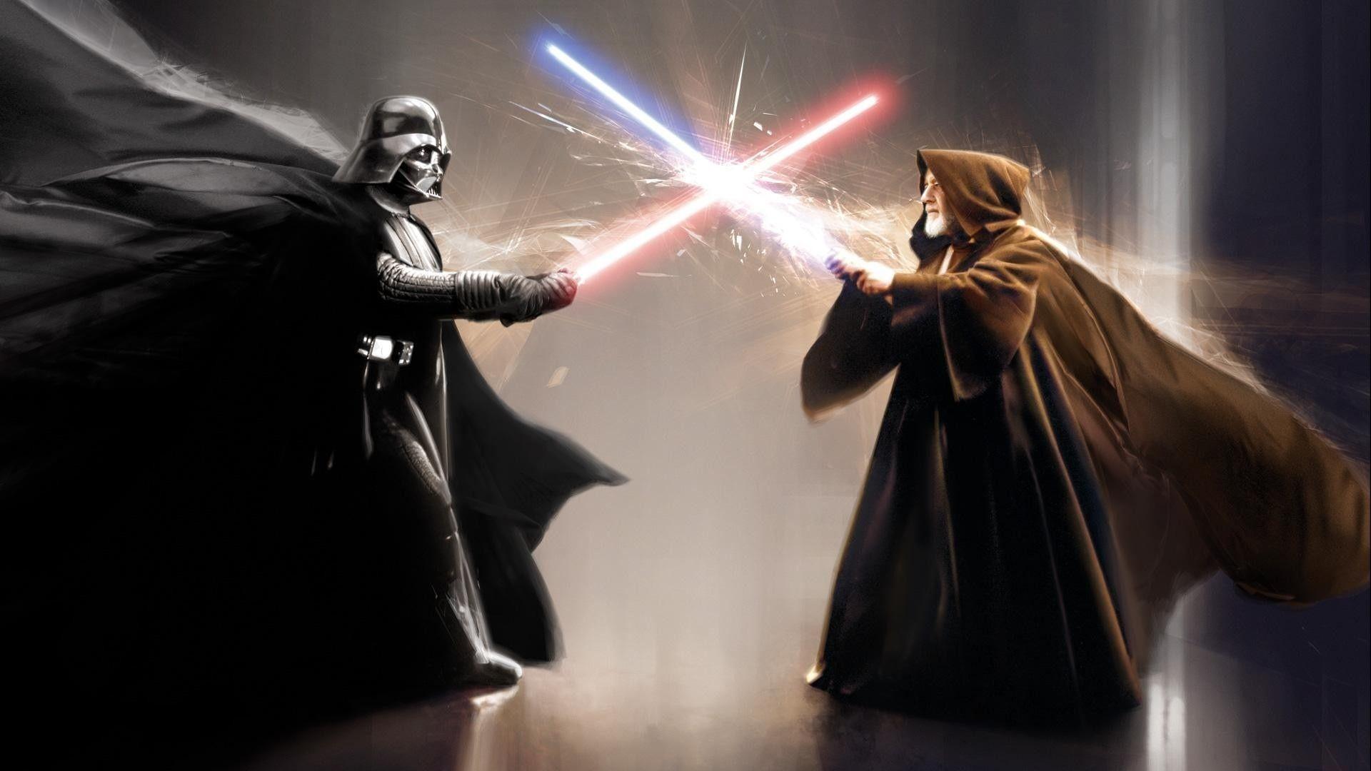 Darth Vader Vs Ben Kenobi Lightsaber Duel Star Wars Jedi Star