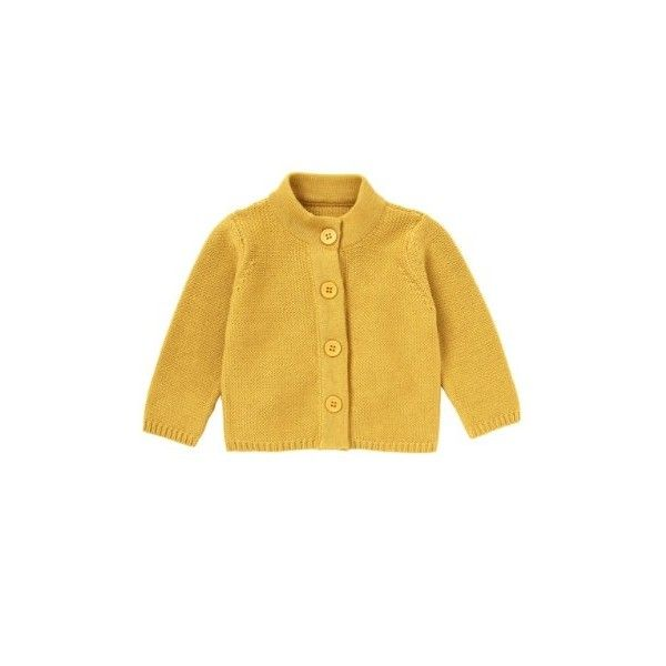 Mothercare Mustard Chunky Cardigan ❤ liked on Polyvore
