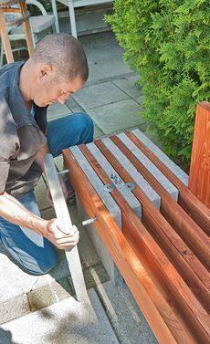 Gartenbank aus Beton #woodworkingprojectschair