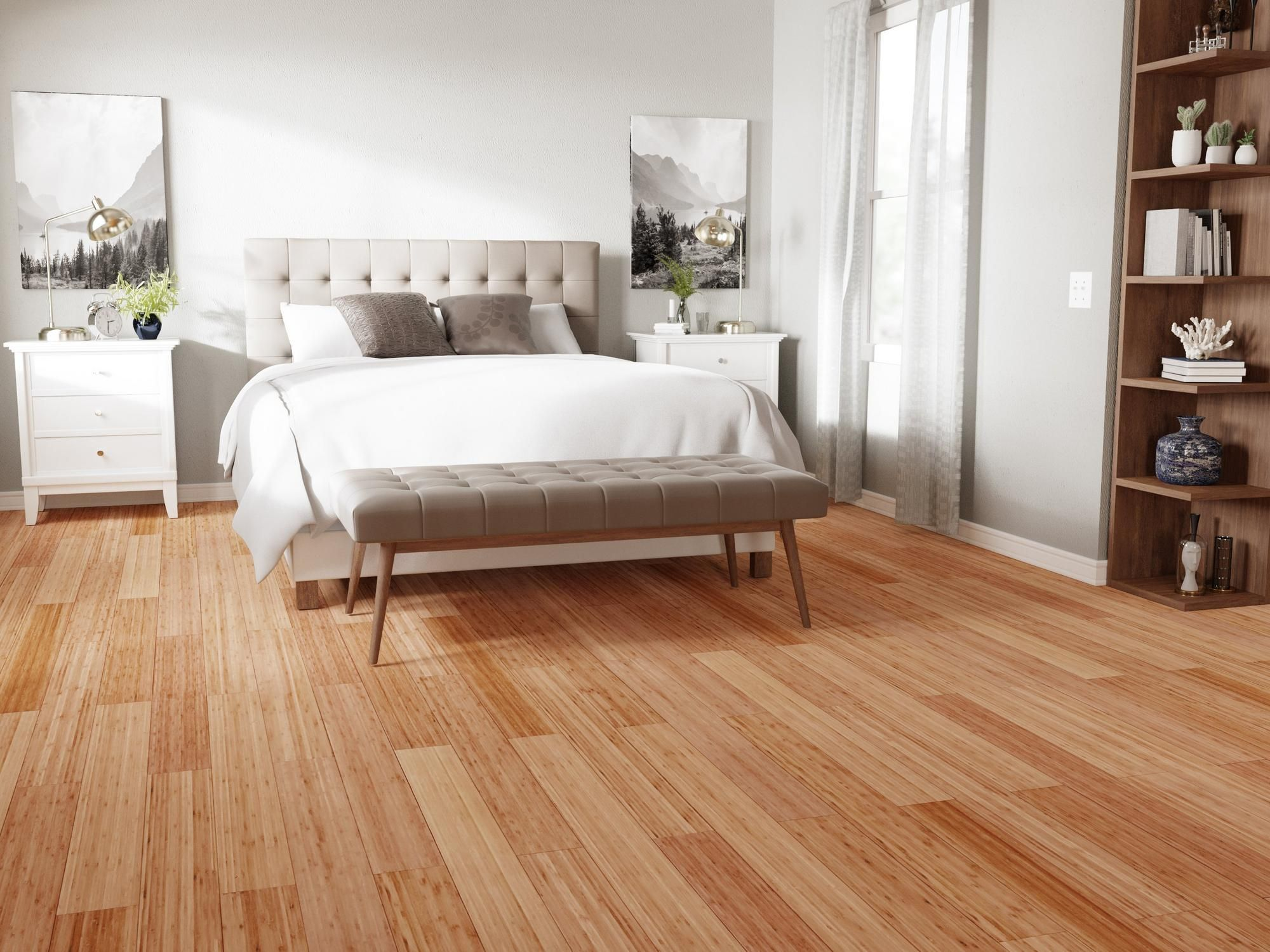 Eco Forest Carbonized Vertical Engineered Bamboo  Floor & Decor