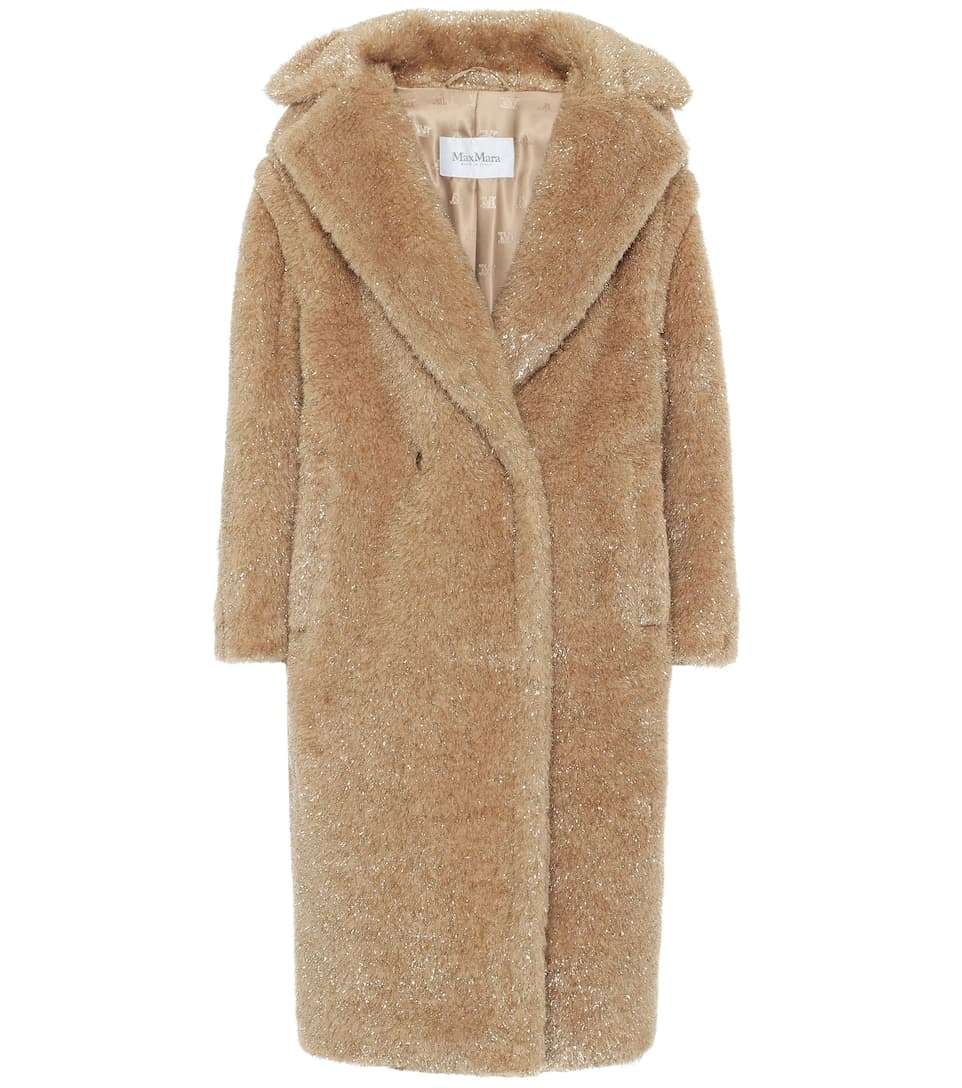 Teddy Bear Icon lamé coat Coat, Faux shearling coat, Clothes