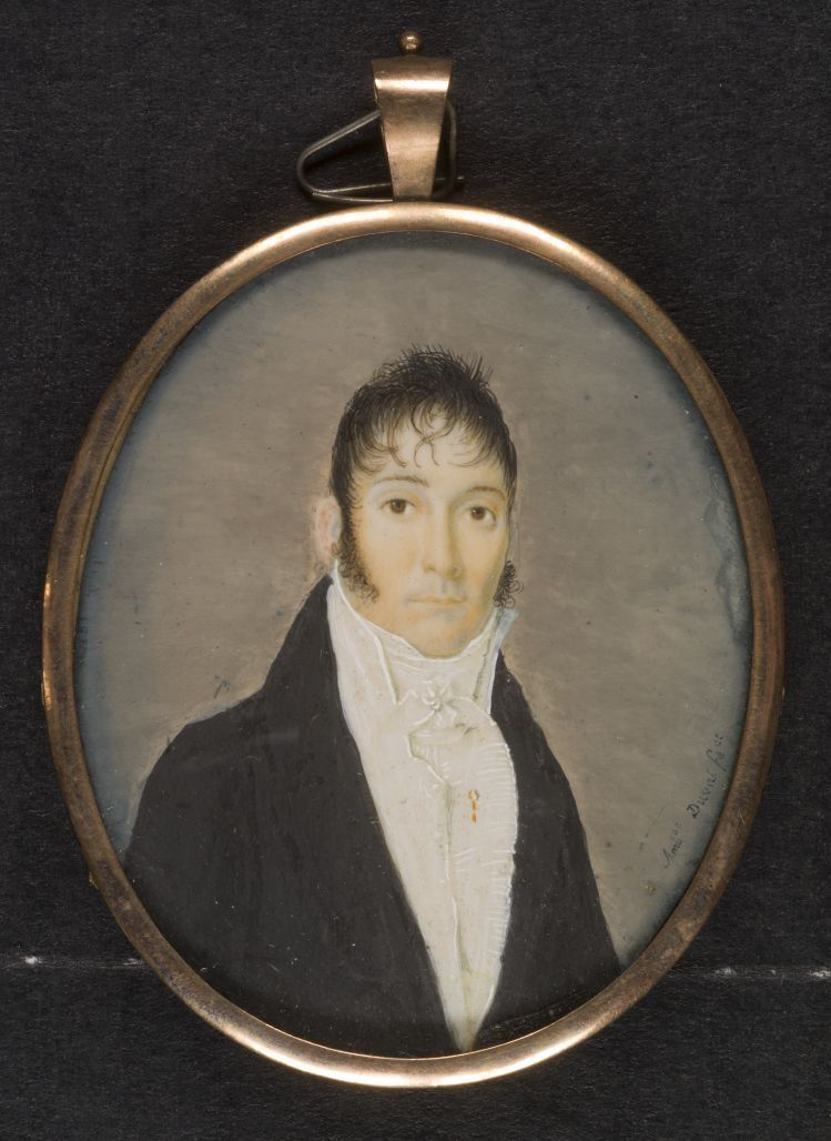 Portrait in miniature of (my Great, Great, Great Grandfather) Christoval Sebastian Toledano.  Property of the Historic New Orleans Collection.