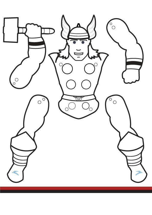 Superhero Jumping Jacks - Coloring edition vol 2 | Kids\' Crafts ...