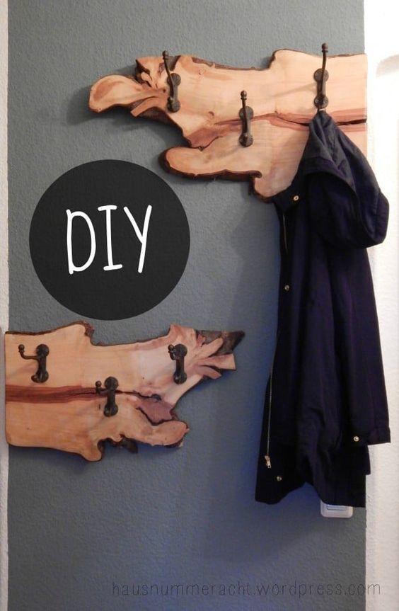 DIY-Garderobe aus einer Birnbaumwurzel – HANDMADE Kultur